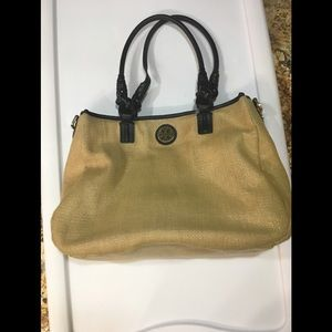 Tory Burch Stratford and Black Leather Handbag